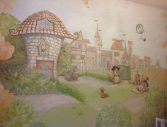 Роспись детской комнаты - роспись стен,роспись стены,роспись стен в детской