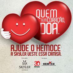 No Dia Mundial do Doador de Sangue, a A+ e a Skyler vestiram a camisa da solidariedade com a Campanha Quem Tem Coração Doa. A equipe da Agência e da Skyler abraçaram a causa em parceria com HEMOCE e entraram na luta pelas milhares de pessoas que precisam de sangue.