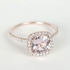 """""""This cushion cut rose gold ring is perfection! Tag your girls and love"""""""