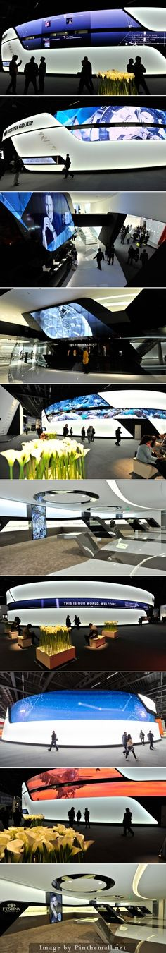 Creative Point of purchase displays and exhibition booths for trade-shows… Exhibition Stall, Exhibition Stand Design, Exhibition Display, Museum Exhibition, Trade Show Design, Display Design, Store Design, Futuristic Interior, Modern Interior