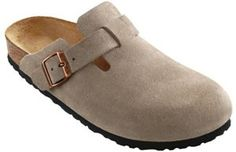 Birkenstock Boston Suede with High Arch Clogs,Taupe Suede with High R EU Buy Shoes, Slip On Shoes, Women's Shoes, Middle School Fashion, Hippie Shoes, Dress Over Pants, Fashion Slippers, Birkenstock Boston Clog