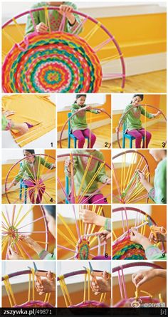 Loom to make a t-shirt rug - I didn't see the instructions but the pictures are pretty self explanatory.