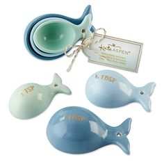 The perfect party favors to set at each place setting at your nautical theme bridal or baby shower, the Kate Aspen Whale Measuring Spoons are oh-so-adorable. The charming spoon set includes 1 teaspoon, 1 tablespoon and tablespoon sizes. Kate Aspen, Beach House Decor, Home Decor, 6 Packs, My New Room, My Dream Home, Dream Homes, Measuring Spoons, Coastal Decor