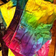 Tye Die Shorts i-make-things-like-a-boss Diy Shorts, Tie Dye Shorts, Tie Dye Party, Summer Outfits, Cute Outfits, Karen, Clothes Crafts, Tye Dye, Swagg