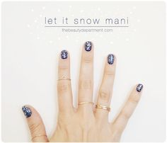 These 2 layered colors are as close as we're going to get to snow in Southern California! Click the photo to get the details on this pretty winter mani!