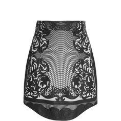 Balmain Applique Leather Mini Skirt ($6,995) ❤ liked on Polyvore featuring skirts, mini skirts, black, real leather skirt, leather mini skirt, short leather skirt, applique skirt and short skirts