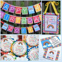 Rainbow Birthday Party Decorating Ideas | Rainbow, Birthday Party Decorations Package, FREE SHIPPING, Custom ...