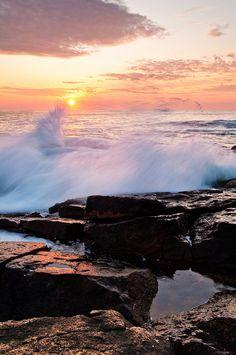 Bass Rocks in Narragansett, Rhode Island