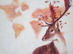 Esprit de la nature Oil On Canvas, Saatchi Art, Moose Art, Original Paintings, The Originals, Animals, Paint, Animales, Animaux
