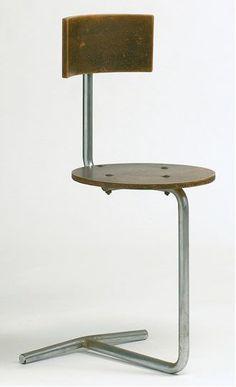 Gaston Eysselinck; Chromed Metal and Wood Chair for Fratsa, 1931.