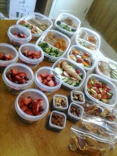 My weekly food prep. 1st attempt!!