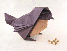 Origami Sparrow by Roman Diaz folded by Gilad Aharoni