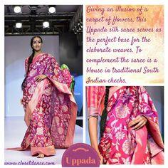 Uppada Saree - Gaurang Shah AW15, Bangalore Fashion Week #bangalorefashionweek #fashionweek #gaurangshah #fashion #aw15 #fashionreview #textiles #indian #handloom #typesofsarees #saree #patola #khadi #silk #uppada #closetdance #indianfashion #ethnic #fashionblogger #indianblogger #fashioncritic #indianfashion #rawsilk #handwoven #fashiondesigner