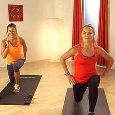 Mix cardio bursts with strength training to amp up the calorie burn. This workout from Hayden Panettiere's trainer, Heather Dorak of Pilates Platinum, will work you from head to toe, and all you need is set of five-pound weights. Body Fitness, Fitness Tips, Fitness Motivation, Health Fitness, Workout Guide, Workout Videos, Workout Exercises, Pilates Workout, Thigh Exercises