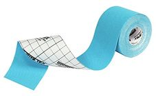 SportsTex Kinesiology Tape, 5cm X 5M, BLUE, Single Roll. Latex free, hypoallergenic, and water resistant Designed to have similar elasticity to the skin The tape can be cut into various different shapes for different areas of the body