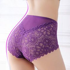 Sexy Lace High Cut Body-shaping Seamless Embroidery Panties online, sexy and hot Lace High Cut Body-shaping Seamless Embroidery Panties is hot sale at NewChic Mobile. Push Up, High Cut, Lace Bra, Gym Shorts Womens, Plus Size, Fashion Trends, Latest Fashion, Clothes, Purple Lingerie