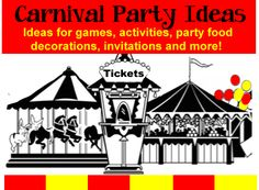 Carnival Birthday Theme | Birthday Party Ideas for Kids - Carnival games, activiites, food ideas and more! http://www.birthdaypartyideas4kids.com/carnival-birthday-theme.htm