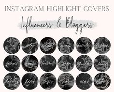 Marble Instagram Highlight Covers | Highlight Icons | Instagram Branding for Bloggers and Influencers