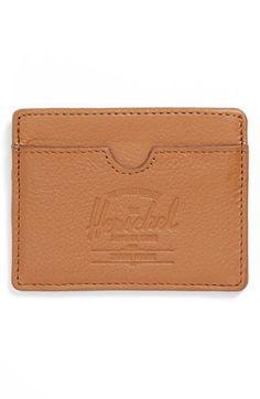 Herschel Supply Co. 'Charlie' Leather Card Case | Nordstrom