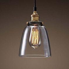 Glas Hngeleuchte Vintage Retro Pendelleuchte Blackburn Bis Loft Edison Hngelampe Fr Innen Pendellampe Decke Beleuchtung Wohnzimmer Esszimmer Kche