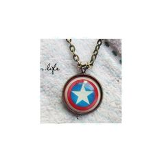 SALE----The Avengers America captain shield pendant Necklace-... ($3.99) ❤ liked on Polyvore featuring jewelry, necklaces, avengers, marvel, brass chain necklace, body chain jewelry, necklaces & pendants, cross necklace and diamond pendant jewelry