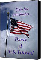 Us Flag Thank A Vet Photograph by Robyn Stacey - Us Flag Thank A Vet Fine Art Prints and Posters for Sale