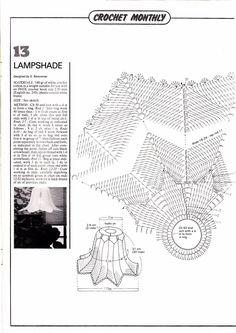 Crochet Monthly 61 - Lita Z - Picasa Web Albums Crochet Lamp, Knit Crochet, Crochet Home Decor, Lampshades, Doilies, Knitting, Handmade, Youtube, Archive