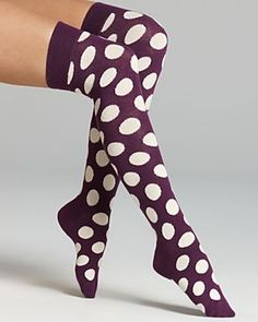 Happy Socks Dot Knee High Socks cute! DOTS BE SPOTTED