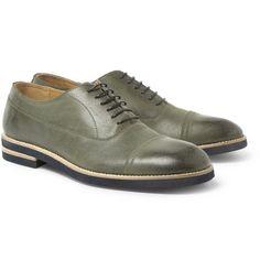 Maison Martin MargielaBurnished-Leather Oxford Shoes