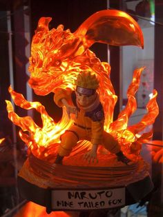 Naruto and the nine tail fox Anime Naruto, Naruto Shippudden, Naruto Fan Art, Action Figure Naruto, Vocaloid, Statues, Anime Gifts, Anime Figurines, Anime Toys