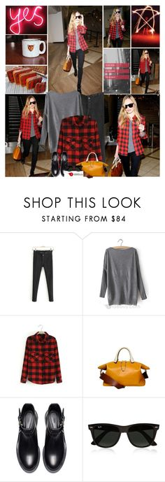 """""""Hug me tighter, kiss me softer, love me longer.."""" by leannesugarplum ❤ liked on Polyvore featuring Chloé, Zara and Ray-Ban"""