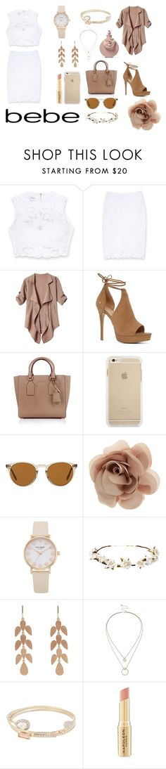 """""""All Laced Up for Spring with bebe: Contest Entry"""" by cristiana-s ❤ liked on Polyvore featuring Bebe, ALDO, Michael Kors, Oliver Peoples, Accessorize, Cult Gaia, Irene Neuwirth, Sole Society, Lipsy and Napoleon Perdis"""