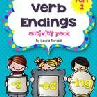 Great for word work and centers!  This activity pack is a follow up to my best seller :  Verb Endings -s, -ed, -ing ~ PART 1  (focus on introducing...