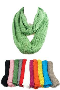 Solid Infinity Scarf- 11 Color Options # Cozy Couture