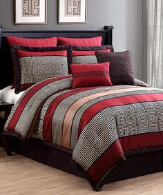 Look at this #zulilyfind! Red Easton Eight-Piece Comforter Set #zulilyfinds