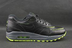 "Nike Air Max 1 WMNS ""Cut Out"" – Black / Black – Volt"