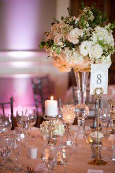 champagne and blush wedding reception | Centerpieces Wedding Ideas - Elizabeth Anne Designs: The Wedding Blog