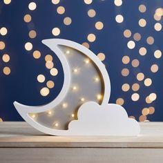 Wooden Moon And Cloud Light Bedroom Lanterns, Girls Bedroom Storage, Kids Bedroom, Bedroom Ideas, Wooden Wall Lights, Baby Room Shelves, 3d Clouds, Cloud Lamp, Cloud Lights