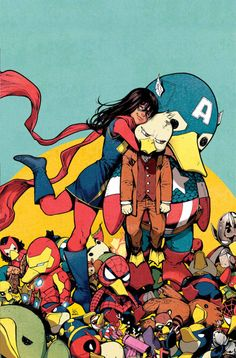 Miss Marvel and Howard, the duck