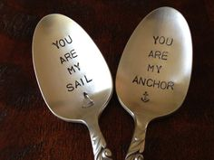 You Are My Anchor  You Are My Sail  Spoons by BellaJacksonStudios, $26.95
