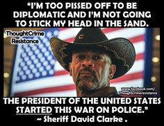 Sheriff David Clarke on Obama starting the war on police