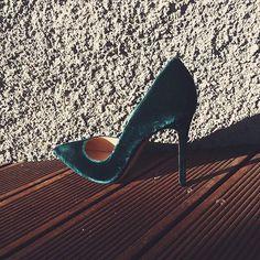 Classy emerald heels