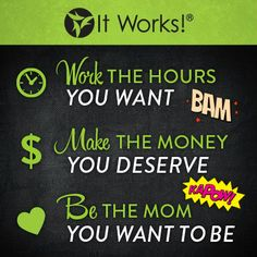 Become an It Works Distributor! Earn what you're worth and join my TEAM! www.benzashley.myitworks.com