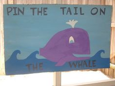 "lizard & ladybug: a very creative 'under the sea' birthday party. ""Pin the tale on the whale"" and a bean bag toss/photo op with an octopus Whale Party, Dolphin Party, Ocean Party, Beach Party, 4th Birthday Parties, 3rd Birthday, Birthday Ideas, Whale Birthday, Lila Party"
