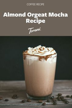 Our Almond Mocha Recipe uses Torani Dark Chocolate Sauce, Torani Almond (Orgeat) Syrup, milk, espresso*. Create this almond mocha at home with this easy mocha recipe! Coffee Drink Recipes, Coffee Drinks, Cold Brew, Whipped Cream, Syrup, Espresso, Latte, Almond, Latte Macchiato