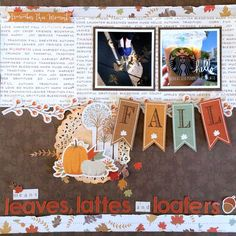 Fall Means - Photo Play - Scrapbook.com - Beautiful fall themed layout.