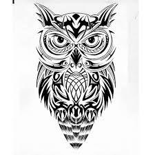 Resultado de imagen para buho tatto tribal