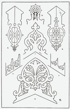 """From, """"A Handbook of Ornament"""". 1898 by Franz Sales Meyer."""