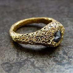 """black sheep and prodigal sons : """"Lychen"""" Engagement Ring"""