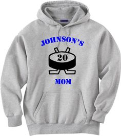 Hockey mom shirt.  Personalized hoodie sweatshirt.